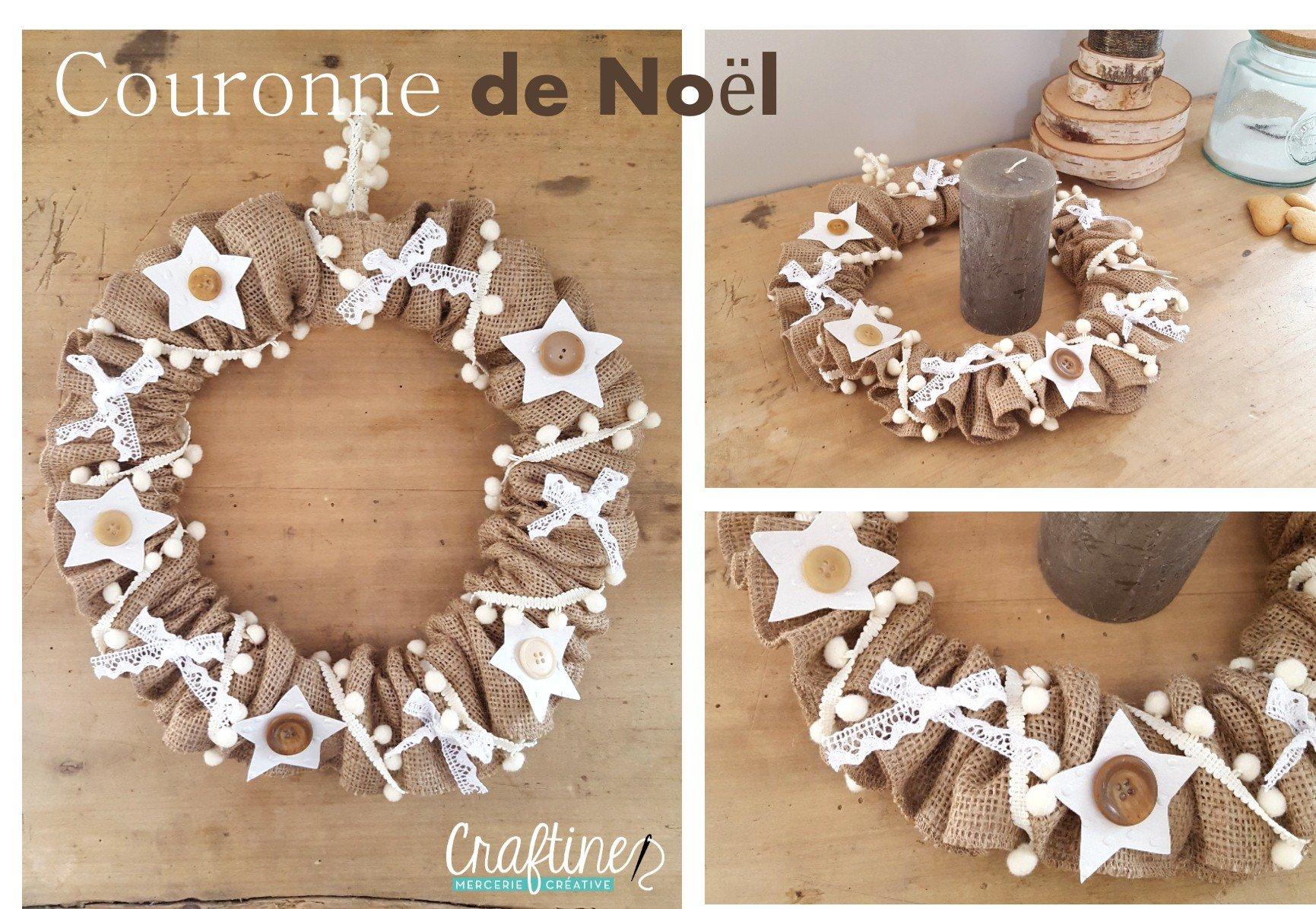 Couronne De Porte Noel Design cousons ensemble : tuto couronne de noël - le blog de craftine