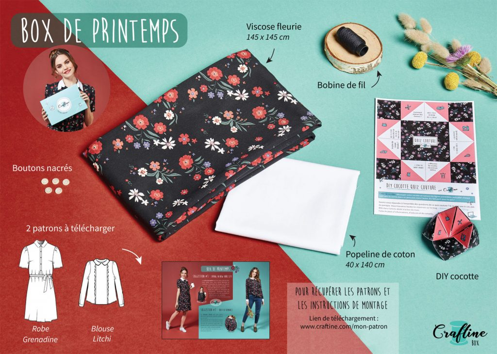 Contenu Craftine Box de printemps