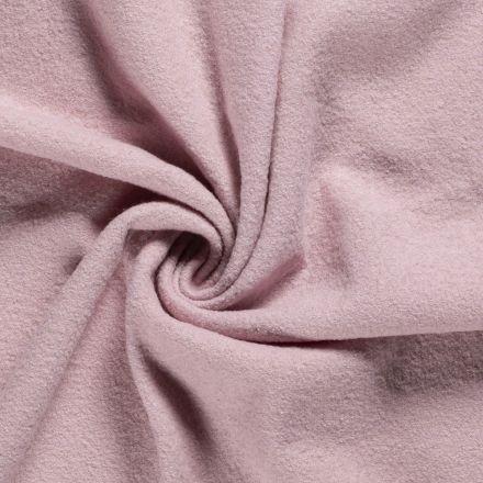 Laine bouillie 100% laine Rose pastel - Par 10 cm