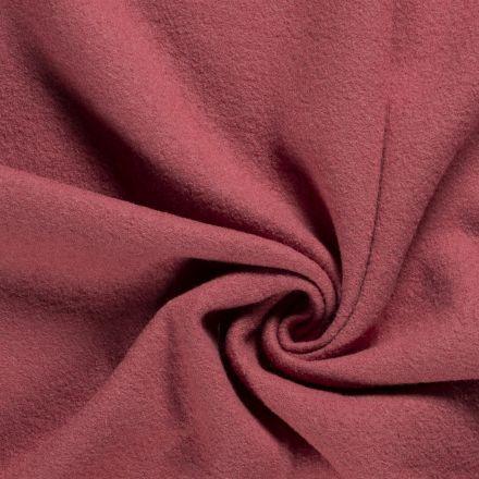 Laine bouillie 100% laine Vieux rose - Par 10 cm