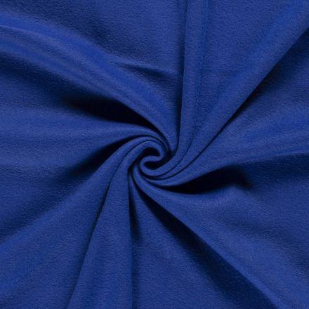 Tissu  Polaire uni Bleu roi - Par 10 cm