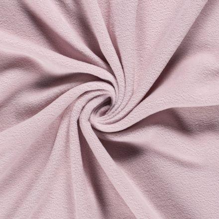 Tissu  Polaire uni Rose clair - Par 10 cm