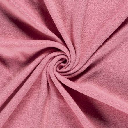 Tissu  Polaire uni Vieux rose - Par 10 cm