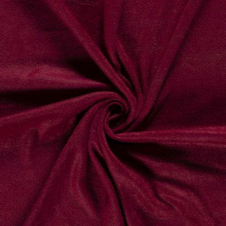 Tissu  Polaire uni Bordeaux - Par 10 cm