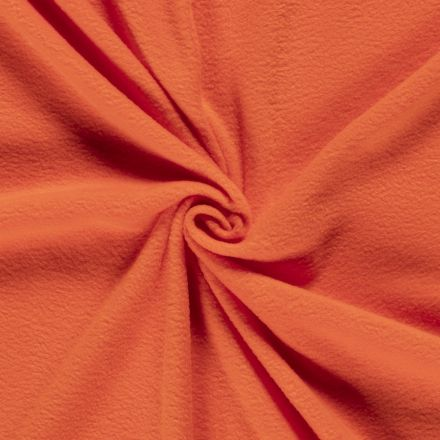 Tissu  Polaire uni Orange - Par 10 cm