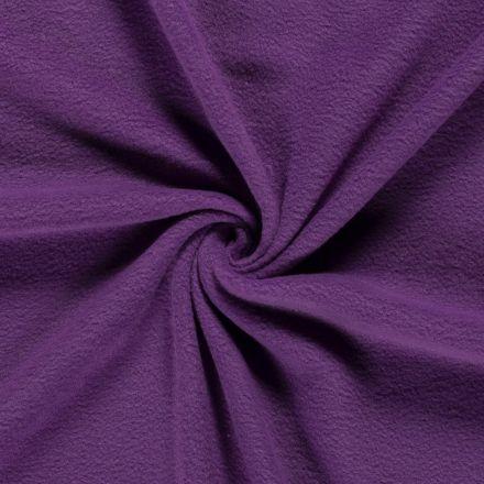 Tissu  Polaire uni Violet foncé - Par 10 cm