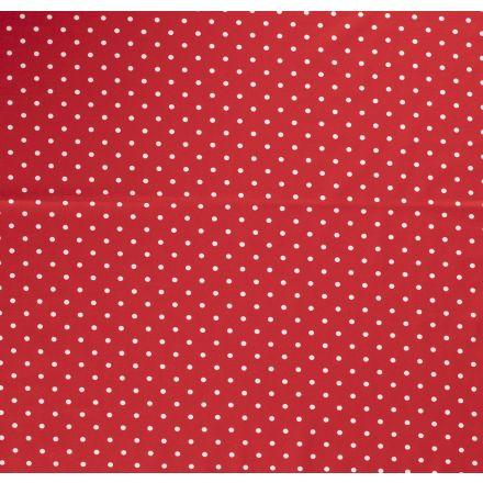 Tissu Jersey Coton Pois blanc sur fond Rouge - Par 10 cm