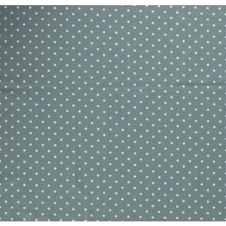 Tissu Jersey Coton Pois blanc sur fond Vert d'eau - Par 10 cm