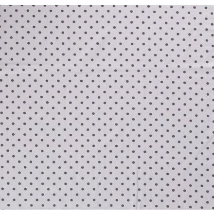 Tissu Jersey Coton Pois anthracite sur fond Gris - Par 10 cm