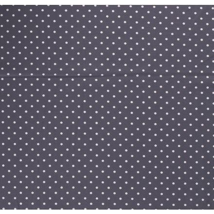 Tissu Jersey Coton Pois Gris sur fond Gris anthracite - Par 10 cm