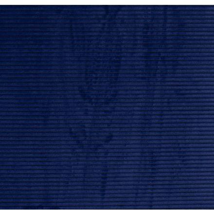 Tissu Minky à côtes Ultra doux Bleu roi - Par 10 cm