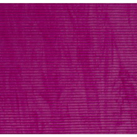 Tissu Minky à côtes Ultra doux Rose fluo - Par 10 cm