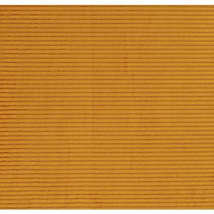 Tissu Minky à côtes Ultra doux Jaune vif - Par 10 cm