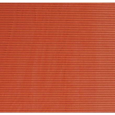 Tissu Minky à côtes Ultra doux Orange fluo - Par 10 cm