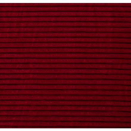 Tissu Minky à grosses côtes Ultra doux Rouge - Par 10 cm