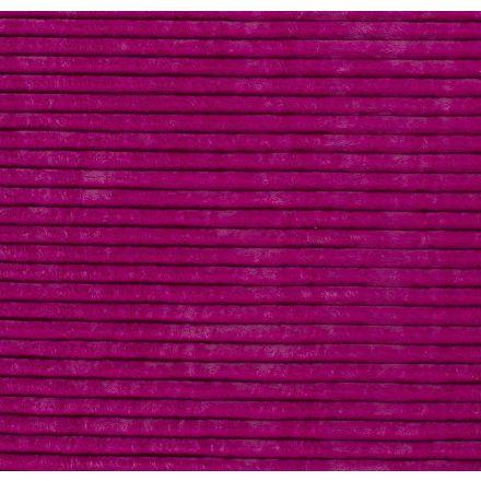 Tissu Minky à grosses côtes Ultra doux Rose fluo - Par 10 cm