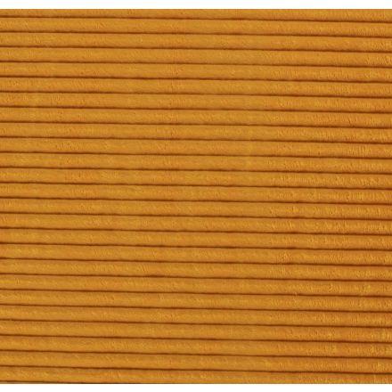 Tissu Minky à grosses côtes Ultra doux Jaune vif - Par 10 cm