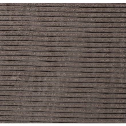 Tissu Minky à grosses côtes Ultra doux Gris - Par 10 cm