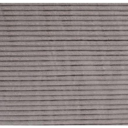 Tissu Minky à grosses côtes Ultra doux Gris clair - Par 10 cm