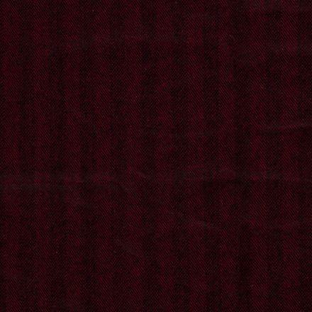 Tissu Jacquard Toucher laine Rayures sur fond Rouge - Par 10 cm