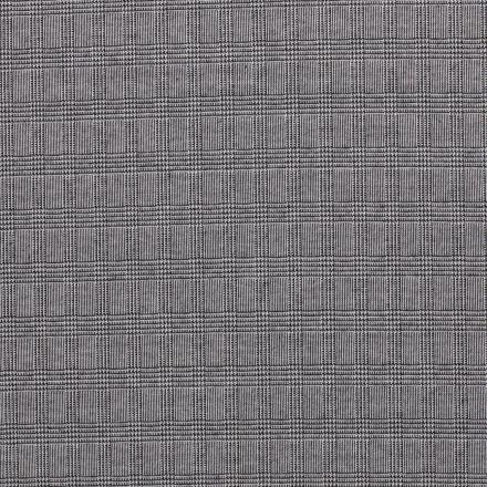 Tissu Maille Carreaux Prince de Galles sur fond Gris - Par 10 cm