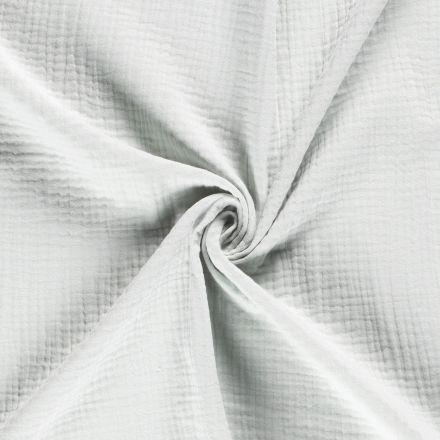 Tissu Triple gaze de coton Vert menthe clair - Par 10 cm