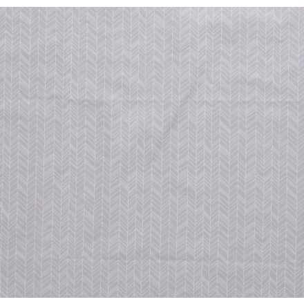 Tissu coton imprimé Flèches géométriques sur fond Gris clair - Par 10 cm