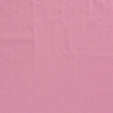 Tissu Coton lavé Brodé Vieux rose - Par 10 cm