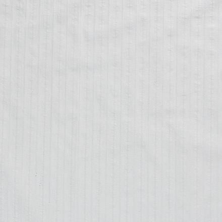 Tissu Coton lavé Brodé Vert menthe - Par 10 cm