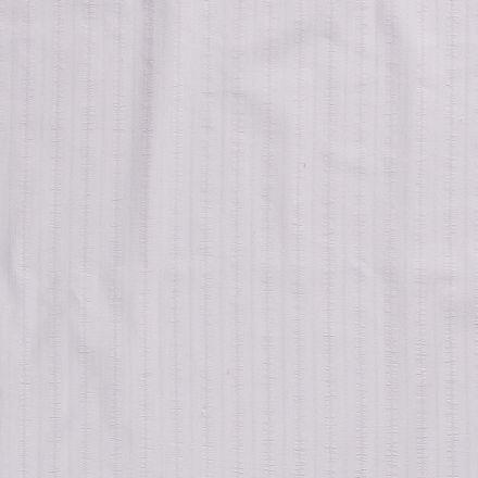 Tissu Coton lavé Brodé Gris clair - Par 10 cm