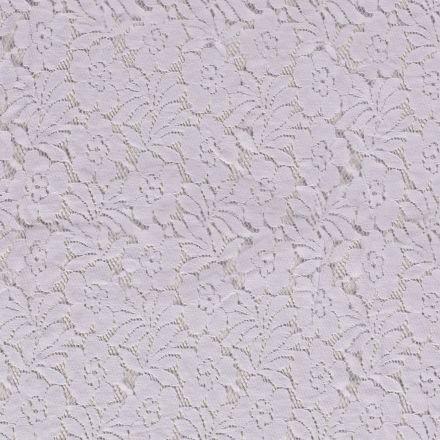 Tissu Dentelle Julia Fleuris sur fond Blanc - Par 10 cm