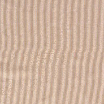 Tissu Seersucker Rayé orange sur fond Blanc - Par 10 cm