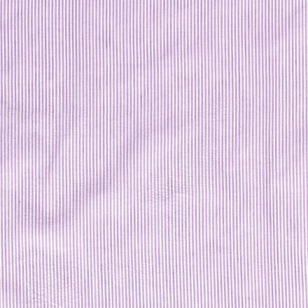 Tissu Seersucker Rayé violet sur fond Blanc - Par 10 cm