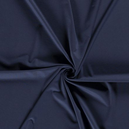 Tissu Jersey Viscose Nylon Bleu jean - Par 10 cm