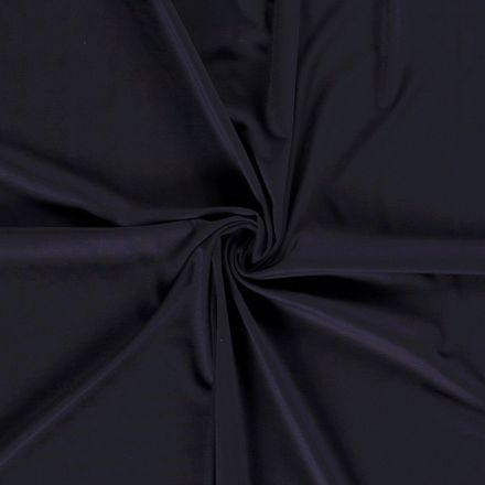 Tissu Jersey Viscose Nylon Bleu marine - Par 10 cm