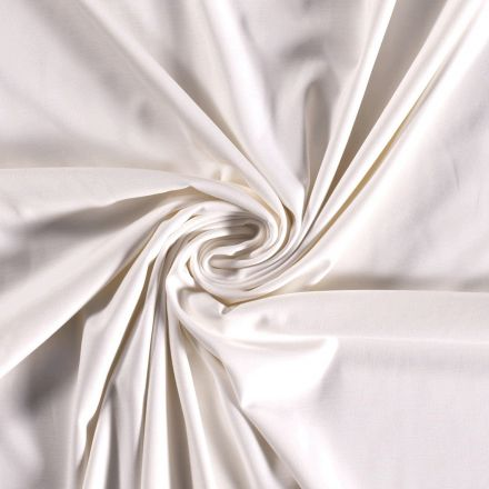 Tissu Jersey Viscose Nylon Blanc - Par 10 cm