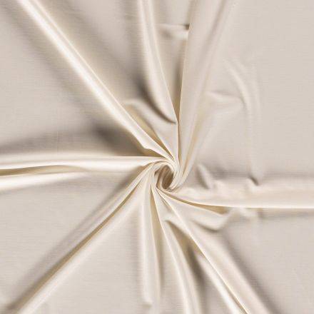 Tissu Jersey Viscose Nylon Ecru - Par 10 cm