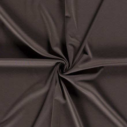 Tissu Jersey Viscose Nylon Gris anthracite - Par 10 cm