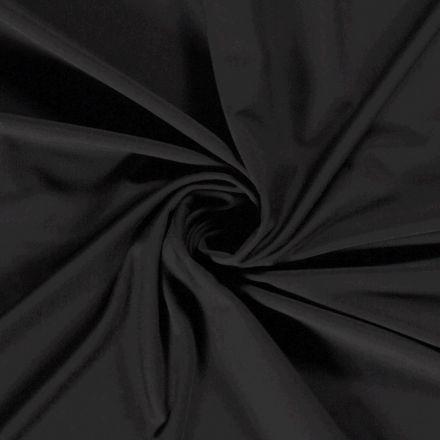 Tissu Jersey Viscose Nylon Noir - Par 10 cm