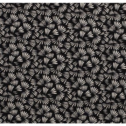 Tissu Jersey Polyester épais Artifice sur fond Noir - Par 10 cm