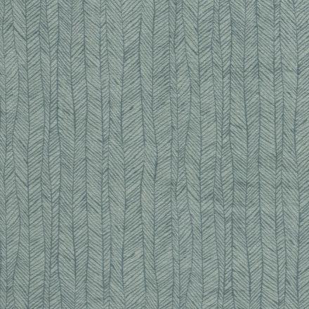 Tissu Jersey Velours Eponge Flèches géométriques sur fond Vert menthe - Par 10 cm