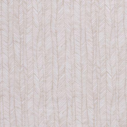 Tissu Jersey Velours Eponge Flèches géométriques sur fond Blanc - Par 10 cm