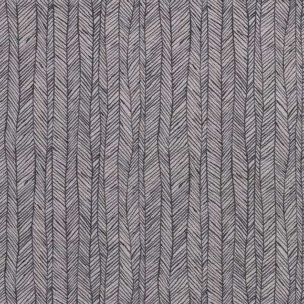 Tissu Jersey Velours Eponge Flèches géométriques sur fond Gris clair - Par 10 cm