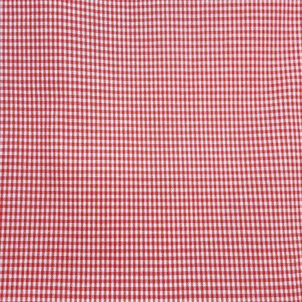 Tissu Vichy Mini carreaux 3 mm Rouge - Par 10 cm