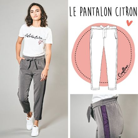 Patron Craftine Pantalon Citron