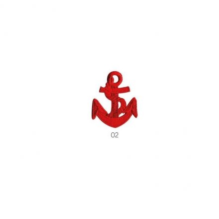 Ecusson Thermocollant Ancre marine rouge