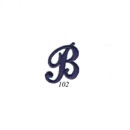 "Ecusson Thermocollant Lettre Calligraphie Anglaise ""B"" Marine"