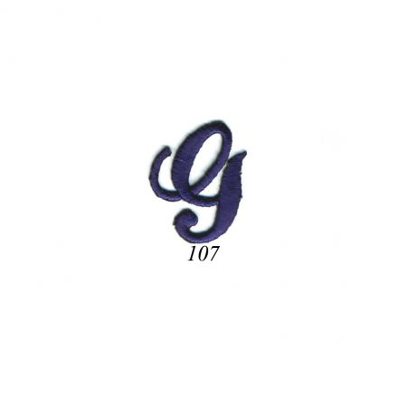 "Ecusson Thermocollant Lettre Calligraphie Anglaise ""G"" Marine"