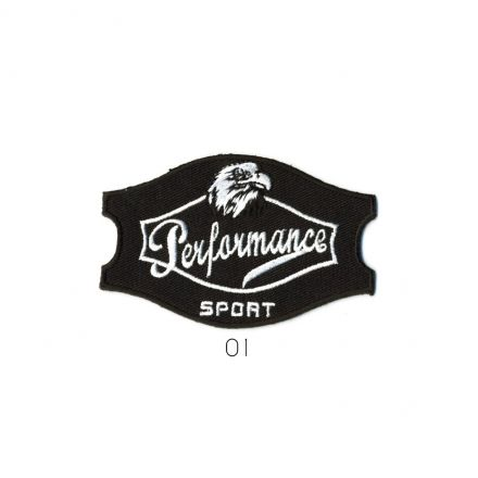 Ecusson Thermocollant Performance Sport Noir