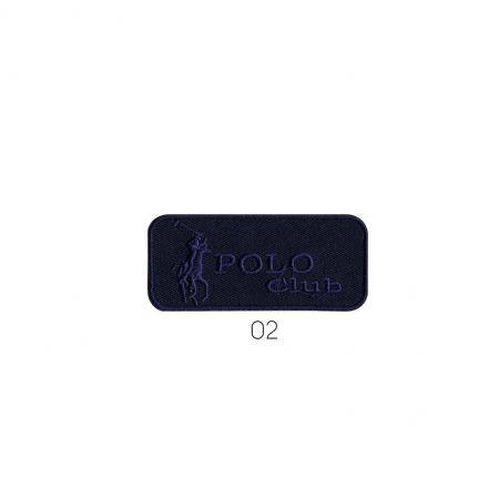 Ecusson Thermocollant Polo club bleu jean